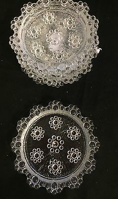 Coasters - 5 Bubble Depression Glass - Round  In Ex Cond. For Entertaining