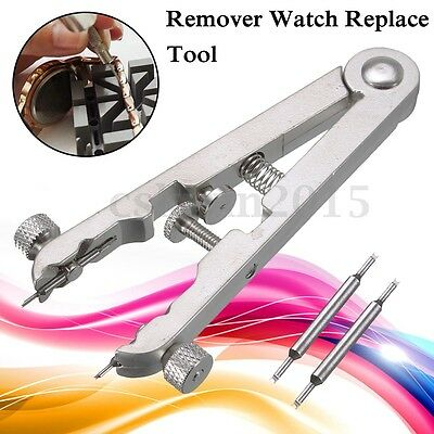 Bracelet Spring Bar Remover Watch Tweezer Replace Tool w/ 2x Pins For ROLEX 6825