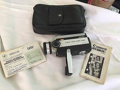 Vintage Canon Auto Zoom 318M Hand Held Video Camera With Carry Bag And Instr.