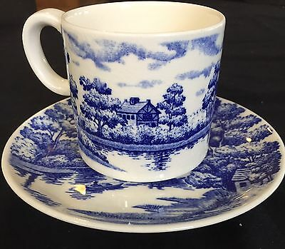 Blue Willow Cup And Saucer - Made In Japan In Vg. Cond.