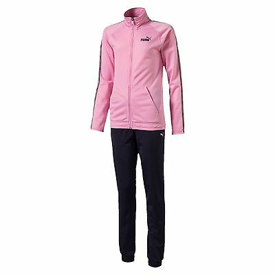 PUMA Girls' Tape Tricot Track Suit Kids Track Suit Girls Nuovo