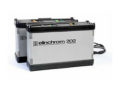 Elinchrom 202 flash packs and A2000 heads.