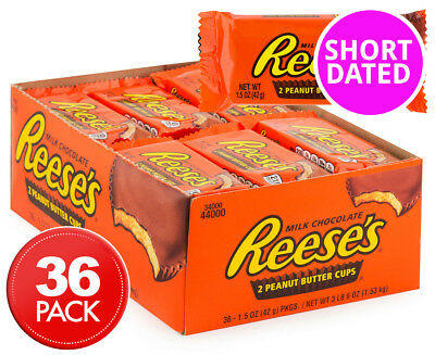 36 x Reese's 2 Peanut Butter Cups 42g
