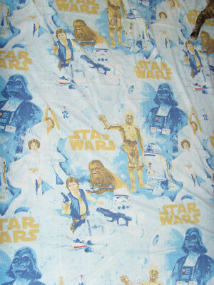 Star Wars Flat Sheet and pillowcase cutter set vintage material sewing fabric