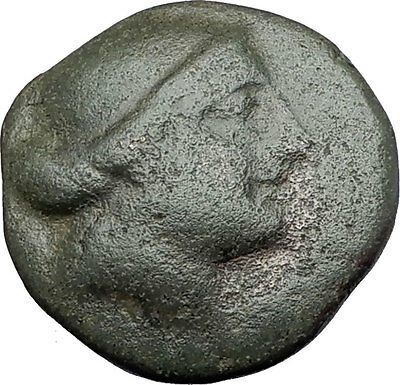 KYME Cyme in Aeolis 250BC Authentic Ancient Greek Coin AMAZON & HORSE i61407