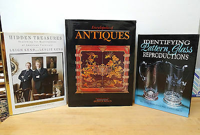 Lot of 3 INFORMATIONAL BOOKS ON  ANTIQUES / AMERICAN FUNITURE / PATTERN GLASS