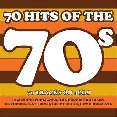 70 HITS OF THE 70s VARIOUS ARTISTS 4 CD DIGIPAK  NEW