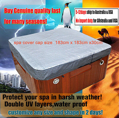 hot tub spa cover cap size 6F 183cm x 183cm x30cm hot tub cover jacket