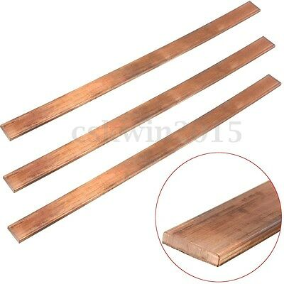 1x 99.6% High Purity T2 Purple Copper Cu Flat Bar Plate 3mm x 15mm x 250mm