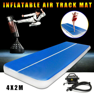 Aufblasbar 4x2M Air Tumbling Track Mat Tricking Floor Gymnastik Cheerleading Pad