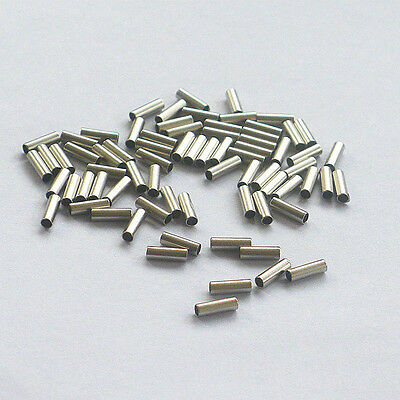 Single Barrel Crimping Sleeves 100% Copper Tube Connector Size 0.6-2.5mm