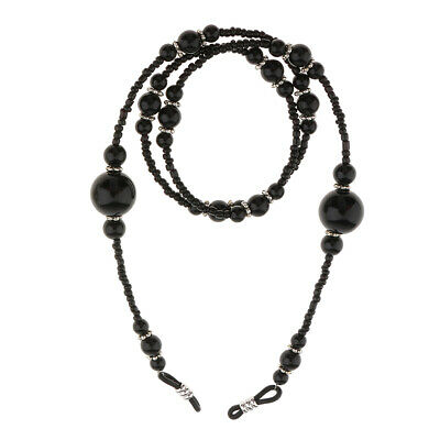Pearl Beaded Eyeglass Spectacle Reading Glasses Chain Holder Neck Cord Necklace