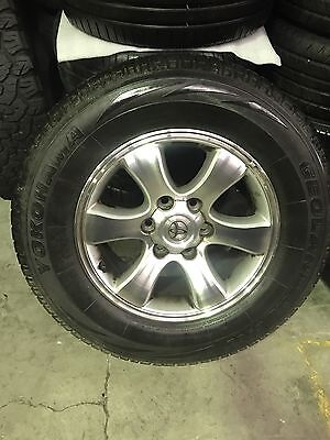 "4x Toyota Prado Hilux Genuine 17"" In Excellent Condition With Tyres"