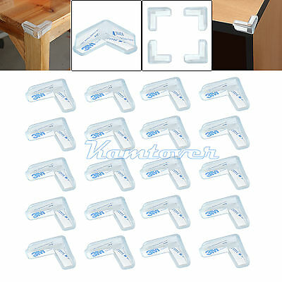 20 X Soft Table Corner Protectors Desk Edge Cushion Baby Child Safety  Proofing