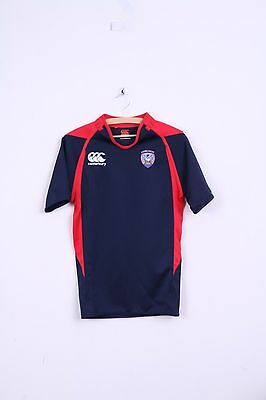 Canterbury Mens S Shirt Rugby Blue Red Corcaigh Slim Fit Sport