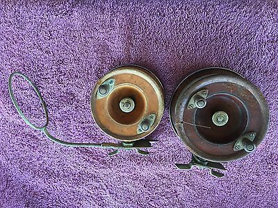 USED TIMBER ALVEY FISHING REEL51/2 and 41/2 as photo