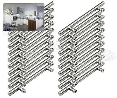 20Pack T Bar Stainless Steel Cupboard Kitchen Cabinet Door Handles Drawer Pulls