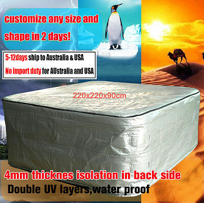 Winterwise! Insulated UV Weatherproof HOT TUB SPA COVER BAG 2.2m x 2.2m