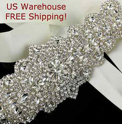Wedding Bridal Belt Ivory Crystal Beaded Rhinestone Dress/Prom/Wedding Sash Belt