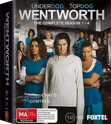 Wentworth Complete Seasons 1, 2, 3 & 4  Brand New 12 Disc Blu-ray Box Set
