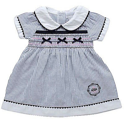Girls Traditional Spanish Style Smocked Bow Dress 0-24 Months