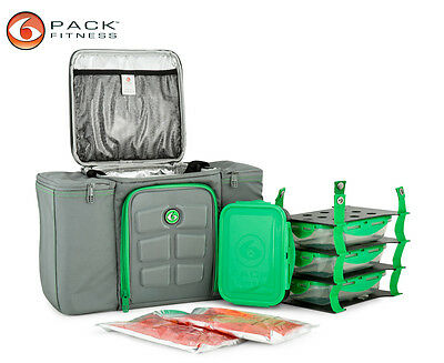 6 Pack Fitness Innovator 300 Carry Bag - Grey/Green