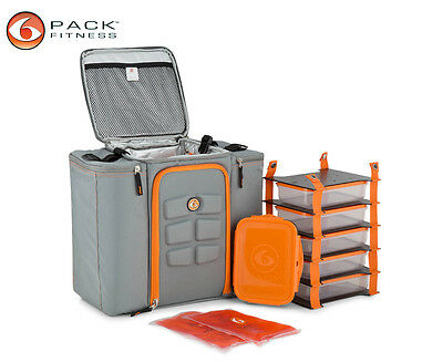 6 Pack Fitness Innovator 500 Carry Bag - Grey/Orange