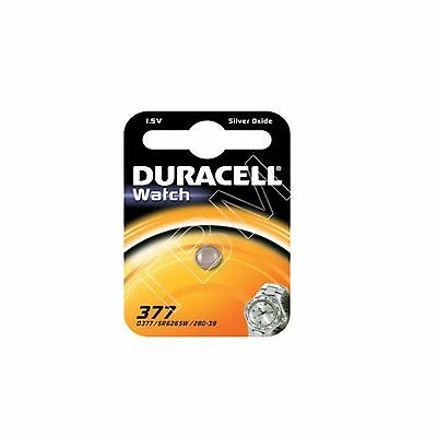 5 Duracell 377 SR626SW AG4 SR66 1.5V Silver Oxide Coin/Button Cell Watch Battery