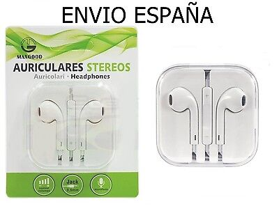 AURICULARES CASCOS para APPLE MICROFONO IPHONE 4 5 6 plus 100%COMPATIBLE MAXGOOD