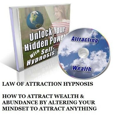 THE LAW OF ATTRACTION - Hypnosis CD For Prosperity & Wealth On CD New