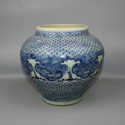 Chinese Old Blue And White Porcelain Jar