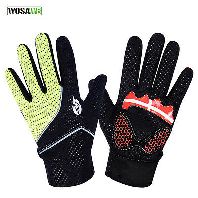 New Warm Winter Fleece Adult Windproof Bicycle Full Finger Cycling Bike Gloves