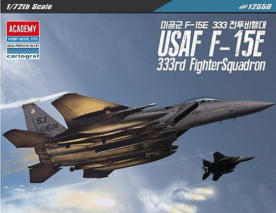 Academy 1/72 Plastic Model Kit USAF F-15E 333rd Fighter Squadron #12550