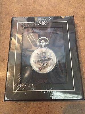 Atlas Editions- 'D-Day Spitfires' - Aces Of The Air - Silver Plated Pocket Watch
