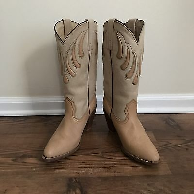 VTG 80s FRYE Western Boots Cowboy Leather Boots Shoes Size 9