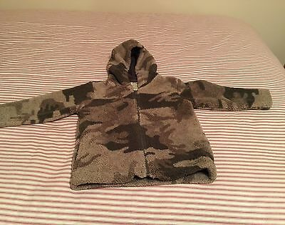 Cabelas Size 4T Boys Camouflage fleece Coat, Jacket, Zip, EUC
