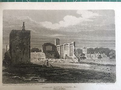 1805 Print of Sudeley Castle, near Winchcombe, Gloucestershire