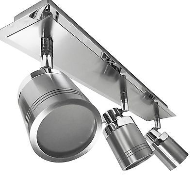 IP44 Modern Chrome Flush Bathroom Ceiling Spot Light Spotlight Bar Zone 1 2 3