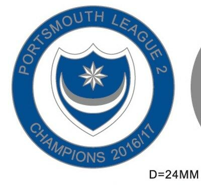 PORTSMOUTH  LEAGUE 2 CHAMPIONS 2016/17 ENAMEL FOOTBALL PIN BADGE - RARE new