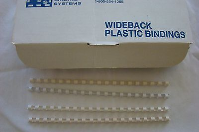 """White/Off White Plastic Comb Bindings Spine 5/16"""" 19 Ring Binding Combs 100pcs"""