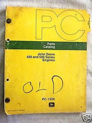 John Deere 400 & 500 Series Engines Parts Catalog