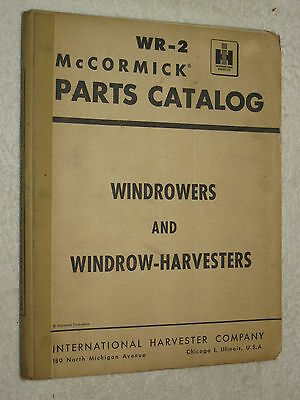 IH McCORMICK No. 6 & 12 WINDROWERS,No.8 WINDROW HARVESTERS 368 Pge PARTS CATALOG