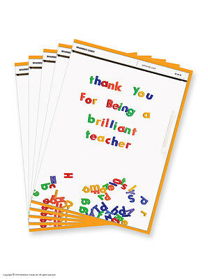 Teacher Cards Thank You Thanks Leaving School End of Term Funny Multi Pack LSA