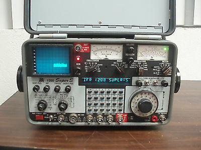 IFR Aeroflex FM/AM 1200 Super S Communication Service Monitor OPTS 02, 11, 12