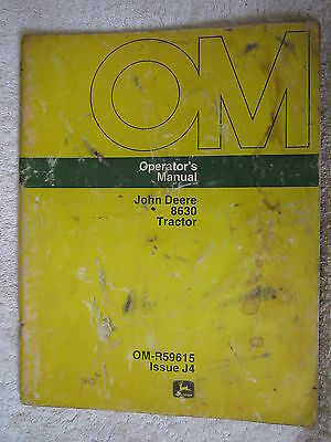 John Deere 8630 Tractor Operators Manual