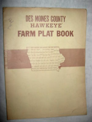 1972 Des Moines County, Iowa Farm Plat Atlas Directory