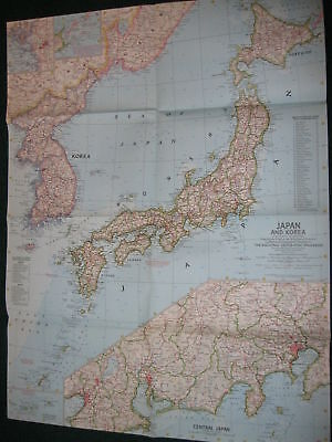 1960 Japan And Korea National Geographic Map