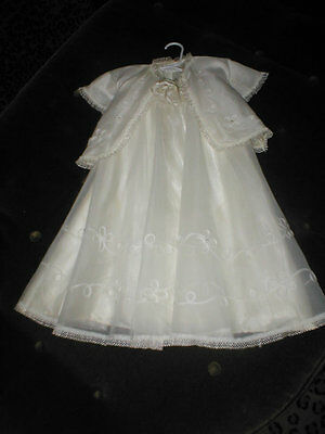 Vintage 1950 Complete Baptism Christening Gown Outfit