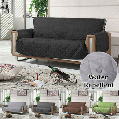 NEW Quilted Water Repellent Couch Sofa Cover Slipcover Pet Protector W/Strap