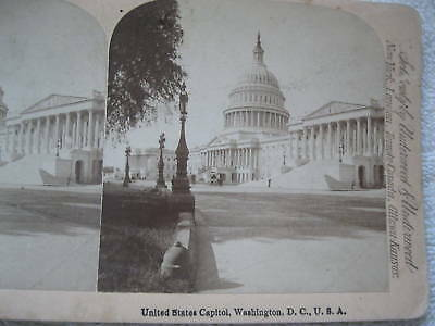 1800's UNITED STATES CAPITOL, WASHINGTON DC STEREOVIEW